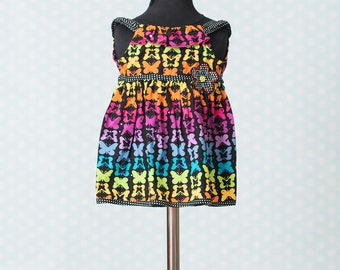 Baby Girl Sparkle Butterfly Tunic or Dress