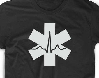 EMT T Shirt Emergency 911 Ambulance Custom Geek Nerd Gamer Funny Unique Fun Tee Nurse LPN RN Medical Firefighter Volunteer