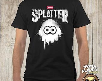 The Splatter Squid. Splatoon T-shirt. The Punisher tee. Punisher shirt. Splatoon tee. Squid Tshirt. Splatter tee. Punisher Inspired. Ink tee