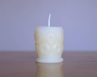 White Beeswax Candle, Homemade Candles, 100% Pure Beeswax Candle, Boho Candles, Bohemian Candle