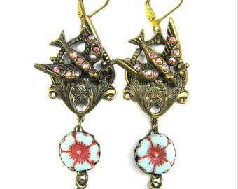 "Bohemian Inspired Czech Glass Collection - ""Madeleine"" Earrings"