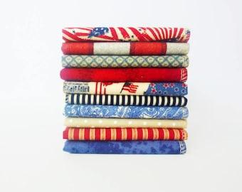 July 4th Handkerchief Mens American Patriotic Hank 100% Cotton Flannel EDC Hankerchief Stars Stripes Handkerchief Set Fourth of July Soft
