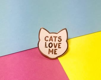 Cat Pin - Cat Lady Pin - Cat Pins - Cat Brooch - Cat Gifts - Cat Lady - Cat Gifts - Crazy Cat Lady - Cat Lover Gifts - Mothers Day Gift