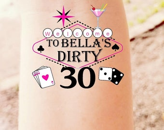 Thirty tattoo etsy for Vulgar temporary tattoos