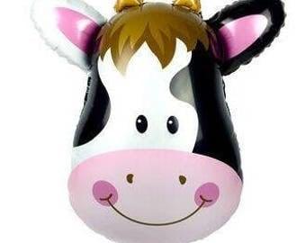 Farm Animal Cow  Balloon Birthday Party Decoration
