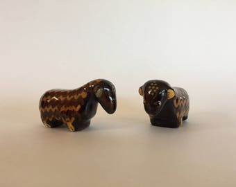 Two Vintage 60s Swiss Sheep