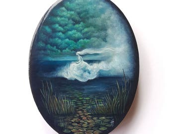Lost in the Fog - Original Acrylic Painting by Amy E Owers