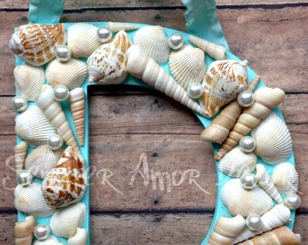 Shell Initial, Beach Decor, Seashell Letters, Mermaid Letter, Seashell Wall Decor, Sea Shell Wall Decor, Sea Shell Letters, Seashell Decor
