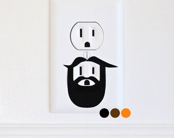 Lumberjack - Electric Outlet Wall Art Sticker Decal