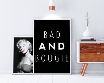 Rap Lyrics Poster - Bad and Bougie - Black Song Lyrics - Song Lyrics Wall Print - Extra Large Poster Print - Cute Dorm Decor - Sadity