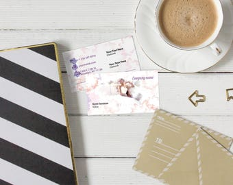 Custom Cardstock Business Card Double Side Printed Design Personalized Biz Cards Wedding Calling Card Gift for Her Offset Printing CSBC02