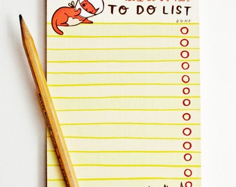 things to do today - planner - things to do, notepad, to do list notepad, cat lady gifts, cat lover gift, funny notepad, funny gift for her