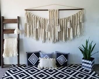 "72"" Extra large macramé wall hanging/macramé wall hanging/woven wall hangings/Yarn wall hanging/yarn tapestry/large wall art"