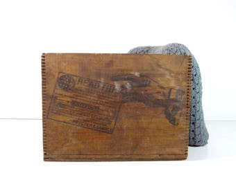 Vintage Wood Crate / Procter and Gamble German Soap Advertising Wooden Crate Box / Primitive Decor