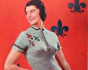 Vintage Stitchcraft magazine April 1950 knitting, crochet patterns