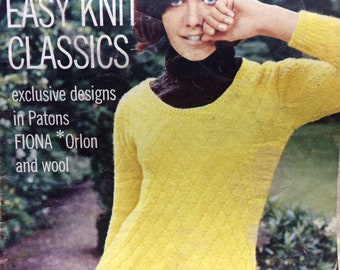 vintage knitting pattern 1960's Woman's Own magazine family patterns