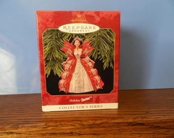 Hallmark Keepsake Holiday Barbie Ornament 1997