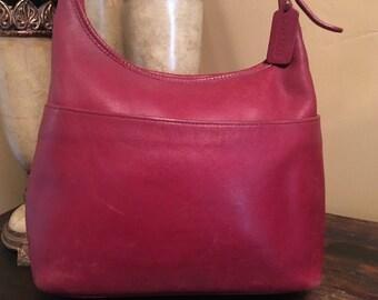 Vintage 1990s COACH Red Hobo Handbag Adjustable Strap