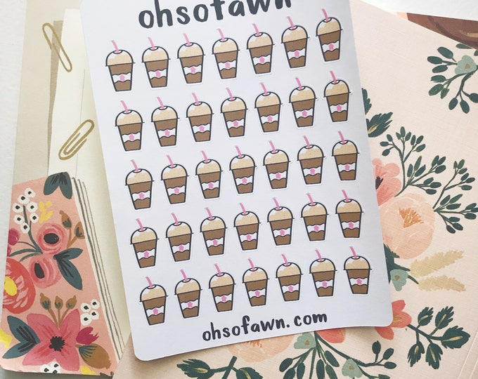 Hand Drawn Frappe Stickers