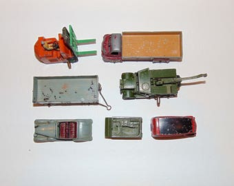 Vintage Lot of 7 > Dinky Toys / Meccano - 260, 661, 522, 428, Lift Truck, Mail
