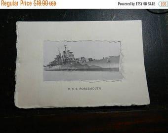 Summer Sale Original 1945 Commissioning Ceremony Program of the USS Portsmouth