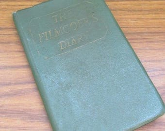 Vintage 1957 Handwritten Filmgoers Pocket Diary ~ Lovely Piece of Social History
