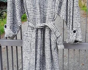 Cappotto Gianni Versace anni 80  pura lana bianco grigio