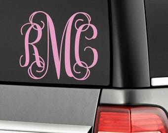 Customized Monogram Car Decal or cup
