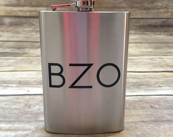 Stainless Steel Flask with Monogram