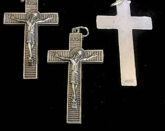 Lot of 6 Jesus Cross Unique Christian or Catholic Crucifix for Rosary