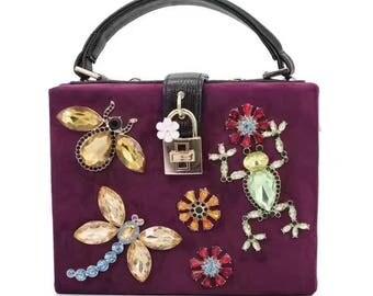 Beautiful purple velvet bag