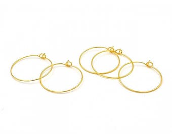 20 supports Creole gold diameter 25mm