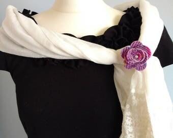 Pink and purple Harris Tweed brooch, Harris Tweed brooch, Scottish brooch, Scottish gifts, wedding favours, corsage, Harris Tweed gifts