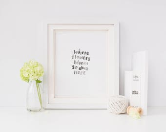 A4 Watercolour handlettered Print