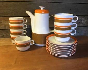 Mid Century Von Hans Theo Baumann Tea-Coffee Service for Eight