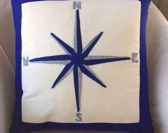 Maine made canvas and felt pillows