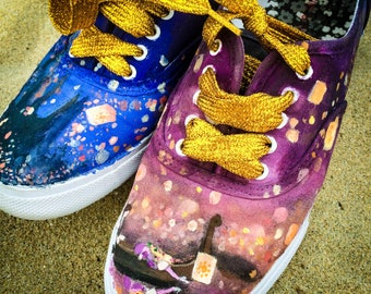 """Custom-Painted Canvas Shoes (""""Keds"""" style, Adult)"""