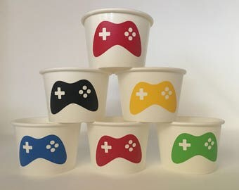 Gaming Party Snack Cups, Gamer Party Snack Cups, Video Game Party, Gaming Birthday Party Cups, Video Game Birthday Party Cups, Gaming Shower