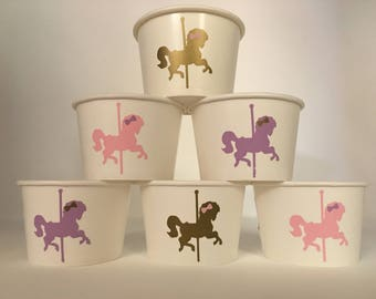 Carousel Party Snack Cups, Carousel Birthday Party, Carousel Party