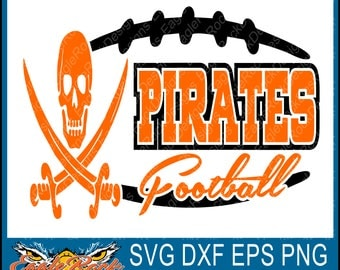 Edgy Pirates Football| SVG| DXF| EPS|Png| Cut File| Pirates| Football| Mom| Dad| Silhouett| Cricut| Vector File| Instant Download