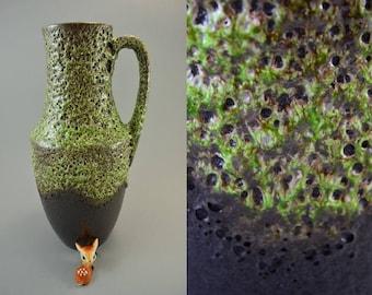 Vintage vase / Scheurich / 407 35 / Fat Lava | West Germany | WGP | 60s