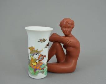 Bjørn Wiinblad for Rosenthal Studio Line  Porcelain Vase, Concertina Serie, Arabian Nights, Scandinavian Design