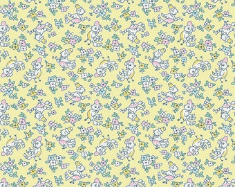 1 Yard Little Dolly by Elea Lutz for Penny Rose Fabrics 6363 Yellow Birds