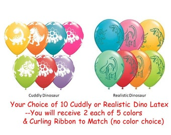 Dinosaur Latex Balloons