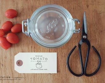 Canning Label - Rubber Stamp - Salsa - Homemade - Personalized Labels - Packaging - Guest Favor - Preserves - Homemade with Love