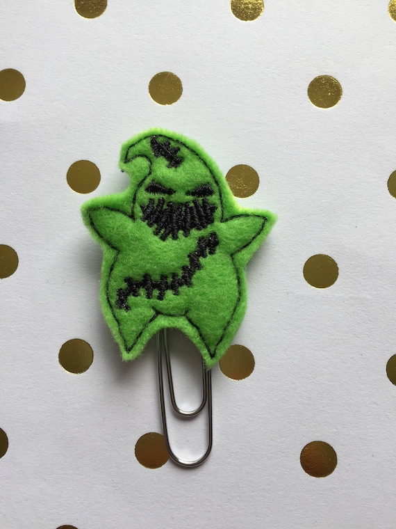 Stitched Oogie planner Clip/Planner Clip/Bookmark. Halloween Planner Clip. Monster Planner Clip