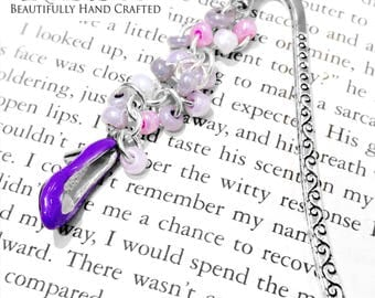 Purple Heel Beaded Bookmark