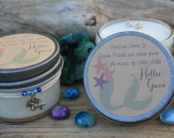 Set of 24 Mermaid Baby Shower Candles - Custom Soy Candles - Mermaid Theme - Its a Girl - Baby Mermaid - Custom Gifts - Mermaid Decor