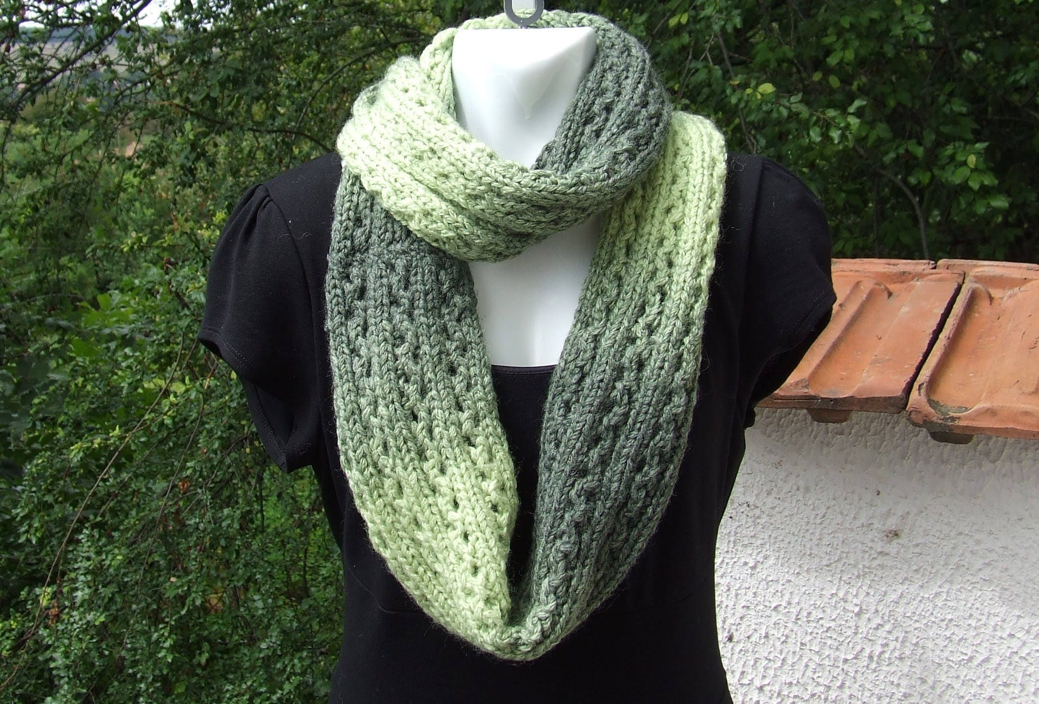 Hand knit infinity scarf lacy knit infinity cowl ladies hand hand knit infinity scarf lacy knit infinity cowl ladies hand knitted lacy pattern green bankloansurffo Choice Image