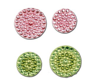 Razzle Dazzle Plastic Rhinestone Wall Charms or Scrapbooking Embellishments or Card Making